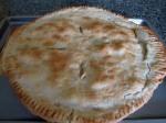Chicken Pot Pie made as a 2 crustpie