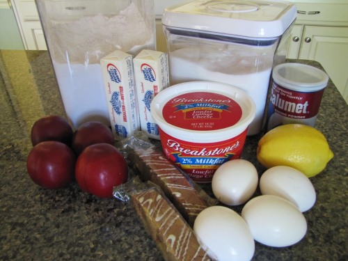 Plum Cake Ingredients