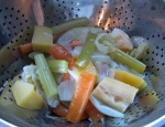 Strain out veggies