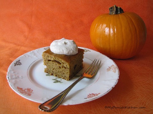 Pumpkin Bars With Hazelnut Cream