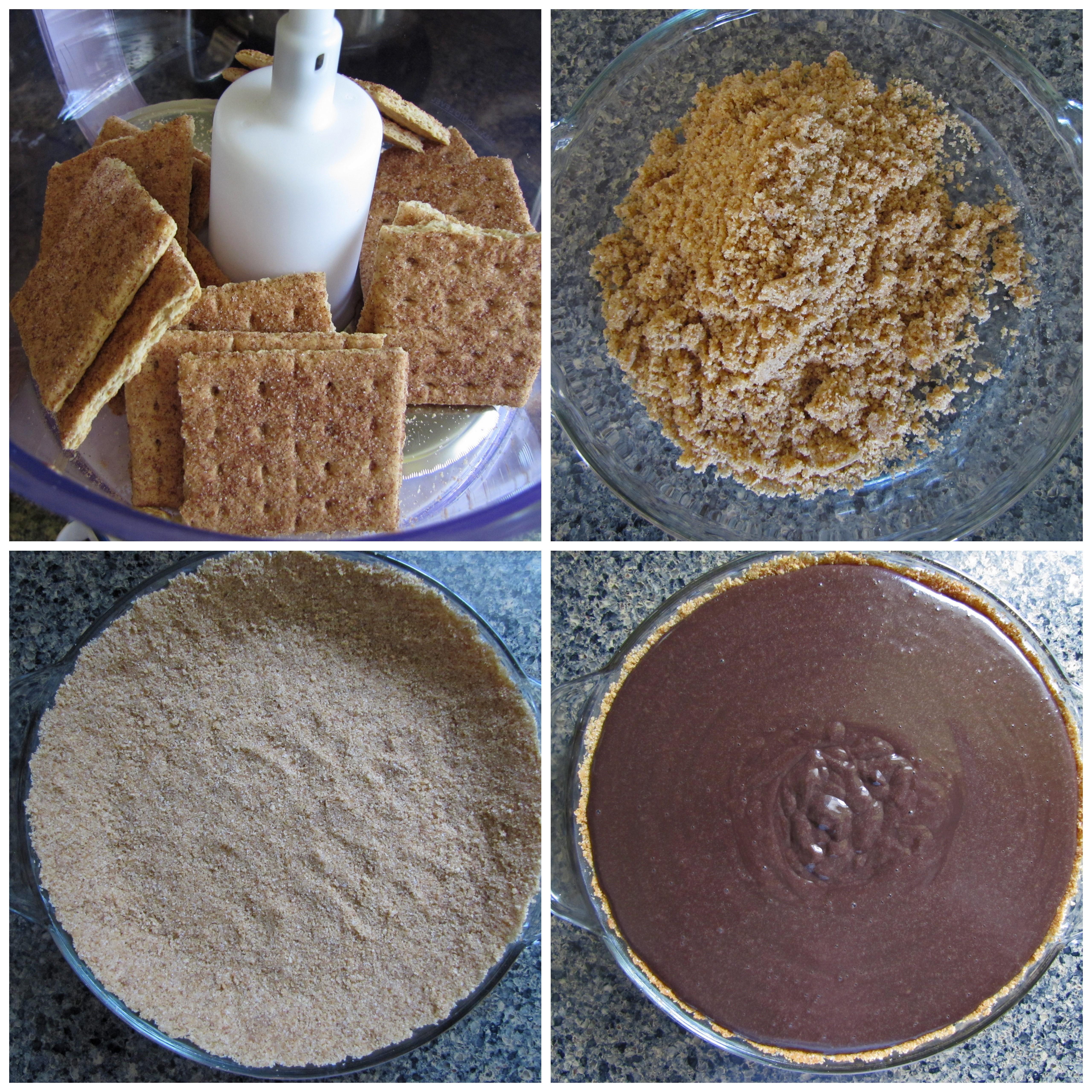 Dark Chocolate S'mores Pie – Secret Recipe Club » S'mores Pie