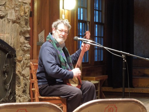 Director of J. C. Campbell Folk School Jan Davidson performing Morningsong. It's a wonderful beginning to your morning, each day Morningsong is led by someone different.