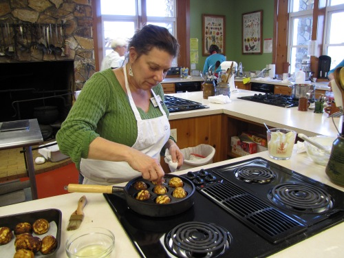 Lynn Ann making Æbleskiver, they were delicious!