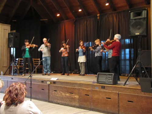 The Fiddle class provided entertainment at the Closing Ceremony.