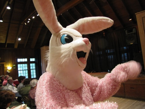 The Easter Bunny also made an appearance at the Folk School.