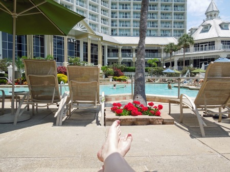 Ahh lounging at the pool.