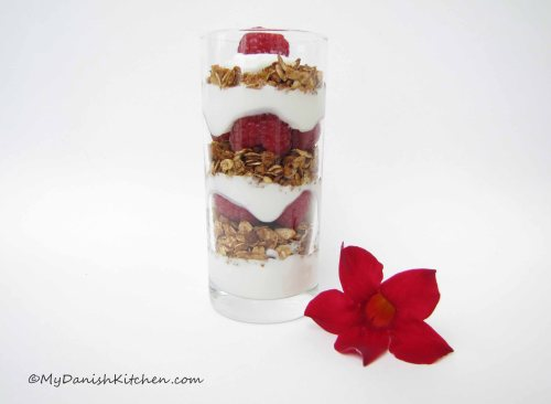 Raspberry and Granola Parfait
