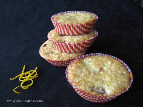 Rhubarb Muffins with Orange Zest