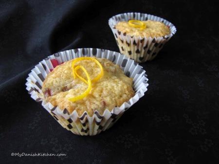 Rhubarb Muffins with Orange Zest