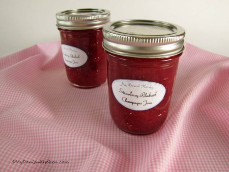 Strawberry Rhubarb Champagne Jam