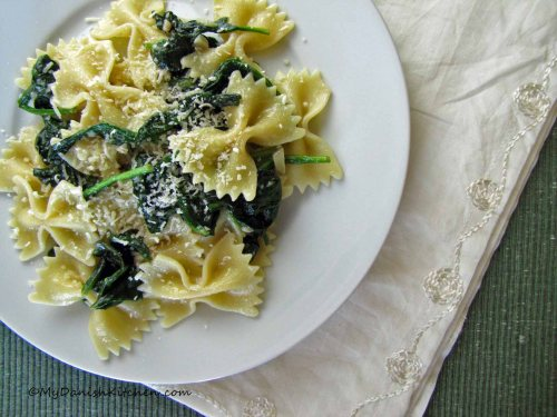 Garlic and Anchovy Farfalle
