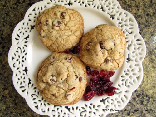 Cranberry-Walnut Chocolate Chip Cookies