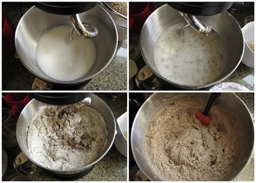 Making Rugbrød dough