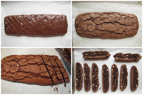 Making Chocolate Almond Biscotti