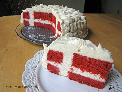 Flagkage - Danish Flag Cake
